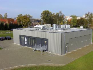 Quelle: WEMAG AG   Luftbild des Schweriner Batteriespeichers